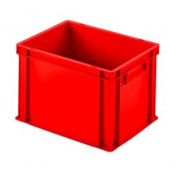 Euro-Geschirrkasten mit 2 Griffleisten, PP, LxBxH 400 x 300 x 280 mm, 27 Liter, rot
