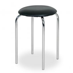 Sitzhocker, schwarz, HxØ 470x350 mm