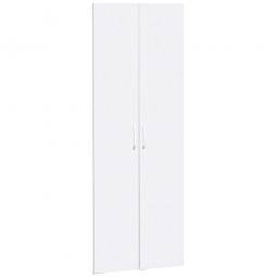 Flügeltüren FLEX für 6 Ordnerhöhen, weiß, Breite 800 mm, mit Metallscharnieren und Türdämpfern