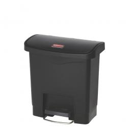 Tretabfalleimer SlimJim, 15 Liter, LxBxH 380 x 230 x 400 mm, schwarz