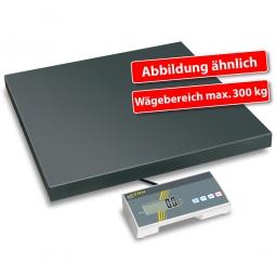 Plattformwaage, Wägeplatte LxBxH 505x505x65 mm, Wägebereich max. 300 kg, Ablesbarkeit 100 g