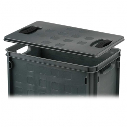 Auflagedeckel, grau, für Stapelbehälter, LxB 406x256 mm,