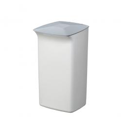Abfall- und Wertstoffsammler mit Schanierdeckel, HxBxT 640x366x320 mm, 40 Liter, weiß/grau