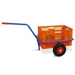 Handwagen mit Kunststoffkorb, H 320 mm, orange, LxBxH 1250 x 640 x 660 mm, Tragkraft 200 kg