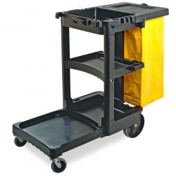 Hausmeisterwagen mit Vinylsack, schwarz