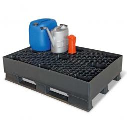 Sicherheits-Auffangwanne aus Kunststoff, LxBxH 1200 x 800 x 315 mm, schwarz, Tragkraft 1200 kg