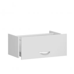 Hängeregistraturschublade FLEX, lichtgrau, Breite 800 mm, hochwertige Metallgriffe in silbermatt
