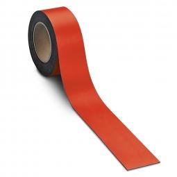 Magnetschilder, 10 m Rolle, Höhe: 40 mm, rot, Materialstärke: 0,9 mm, für alle magnetischen Untergründe