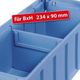 Querteiler für Regalkästen FUTURA, BxH 234 x 90 mm, blau, VE = 10 Stück