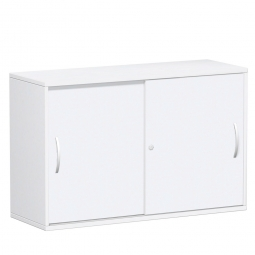 Schiebetürenschrank FLEX, 2OH, weiß, BxTxH 1200x425x798 mm