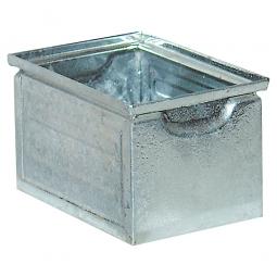 Stapelkasten ST7 aus Stahlblech, 3,6 Liter, LxBxH 200 x 140 x 130 mm, feuerverzinkt