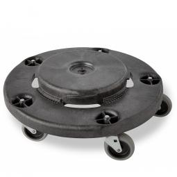 Fahrgestell für runde Mehrzweckbehälter, H 170 mm, Tragkraft 135 kg, schwarz