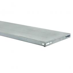 Fachboden für Steckregal, glanzverzinkt, BxT 1200 x 400 mm, inkl. 4 Regalboden-Träger und 2 Unterzüge