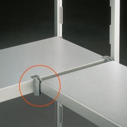 Eckverbindungsklammer für Aluminiumregale mit geschlossenen Aluregalböden, VE = 2 Stück