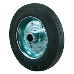 Gummirad, Rad-ØxB 80x25 mm, Tragkraft 50 kg, schwarz