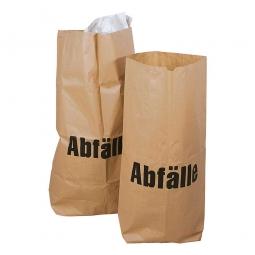 Papier-Abfallsack, 70 Liter, Stärke 70g/m², BxH 550x850 mm, braun, (VE=100 Stück)