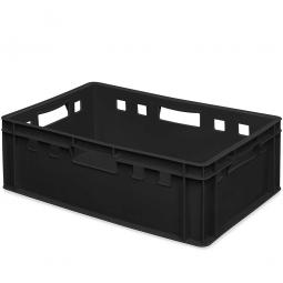 E2-Eurostapelbehälter, 600 x 400 x 200 mm, PE-HD, 40Liter, schwarz