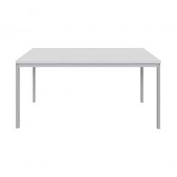 """Schreibtisch """"Classic"""", BxTxH 1600x800x720 mm, Gestell lichtgrau, Dekor lichtgrau"""