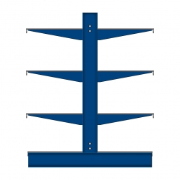 Kragarmregal mit Fachböden, doppelseitige Nutzung, BxTxH 3235 x 900 x 1980 mm, Achsmaß 1060 mm, Gesamt-Tragkraft 8960 kg