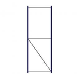 Regalrahmen für Weitspannregale, Stecksystem, fertig montiert, TxH 1000 x 3000 mm, Rahmenbreite 40 mm