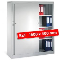 Schiebetürenschrank, 4 Ordnerhöhen, BxTxH 1600 x 400 x 1600 mm