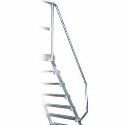 Handlauf aus Aluminium, linke Seite, Einseitig, passend für 7 + 8 Stufen