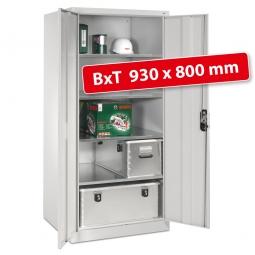 Materialschrank, lichtgrau, BxTxH 930 x 800 x 1950 mm