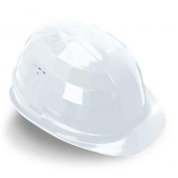 Schutzhelm nach EN 397 DIN 4840, Weiß, Polyethylen, innen 4-Punkt Textilband