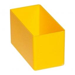 Einsatzkasten für Schubladen, gelb, LxBxH 108x54x63 mm, Polystyrol-Kunststoff (PS)