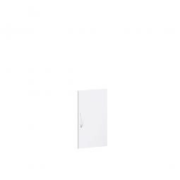 Flügeltür FLEX für 2 Ordnerhöhen, weiß, Breite 400 mm, mit Metallscharnieren und Türdämpfern