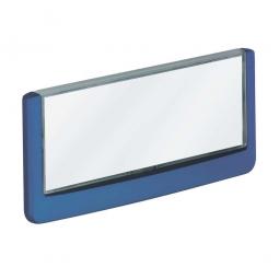 Türschild aus ABS-Kunststoff mit aufklappbarem Sichtfenster, BxH 149x52,5 mm, dunkelblau