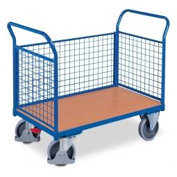 Dreiwandwagen mit Gitterwänden, LxBxH 1180 x 700 x 990 mm, Tragkraft 500 kg