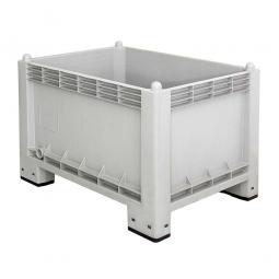 Volumenbox / Industriebox mit 4 Füßen, 300 Liter, LxBxH 1000 x 700 x 650 mm, Wände/Boden geschlossen, grau