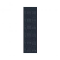 System-Schlitzplatte BxHxT 450x1500x18 mm, Aus 1,25 mm Stahlblech, kunststoffbeschichtet in anthrazitgrau