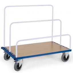 Plattenwagen ohne Aufsteckbügel, LxBxH 1340x800x310 mm, Tragkraft 500 kg