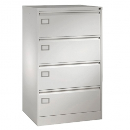 Hängeregistratur-Schrank, 4 Schubladen, 2x DIN A4, BxTxH 790 x 590 x 1360 mm, lichtgrau (RAL 7035)