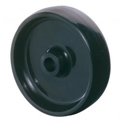 Kunststoffrad, Rad-ØxB 80x30 mm, Tragkraft 150 kg, schwarz