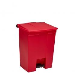 Tret-Abfallbehälter, 45 Liter, rot, BxTxH  415x400x600 mm