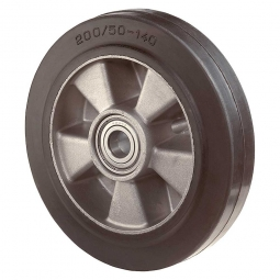 Elastic-Gummirad, Rad-ØxB 125x50 mm, Tragkraft 220 kg, schwarz