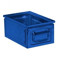 Stapelkasten ST6 aus Stahlblech, 9 Liter, LxBxH 300 x 200 x 150 mm, blau