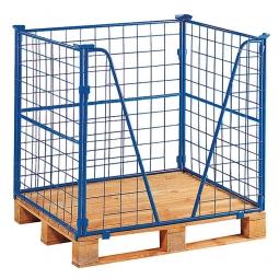 Gitter-Aufsatzrahmen 3-fach stapelbar, LxBxH 1200x1000x1200 mm, mit Kommissioniereingriff