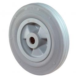 Gummirad, Rad-ØxB 80x30 mm, Tragkraft 50 kg, grau