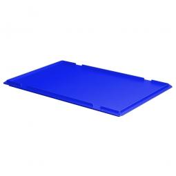 Auflagedeckel für Euro-Stapelbehälter, LxB 600 x 400 mm, Farbe blau