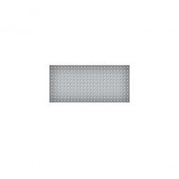 System-Lochplatte, BxH 1000x450 mm, aus 1,25 mm Stahlblech, kunststoffbeschichtet in lichtgrau