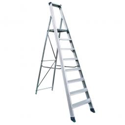 Alu-Stufenleiter mit 8 XXL-Stufen, max. erreichbare Arbeitshöhe 3690 mm
