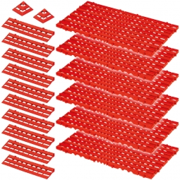 Bodenrost-Set, 18-teilig, rot, 2,3 m²