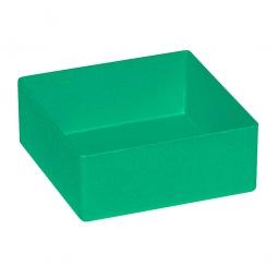 Einsatzkasten für Schubladen, grün, LxBxH 99x99x40 mm, Polystyrol-Kunststoff (PS)