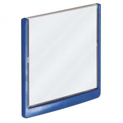 Türschild aus ABS-Kunststoff mit aufklappbarem Sichtfenster, BxH 149x148,5 mm, dunkelblau