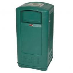 """Abfallbehälter """"Landmark Junior"""" mit Edelstahl-Ascher, Inhalt 132,5 Liter"""