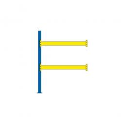 Paletten-Anbauregal mit 2 Paar Tragbalken für 6 Europaletten, Fachlast 2200 kg/Tragbalkenpaar, BxTxH 1885 x 1100 x 2500 mm